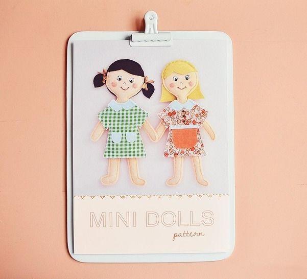 Télécharger Minis Poupées - patron et tuto couture - Patrons de couture tout de suite sur Makerist