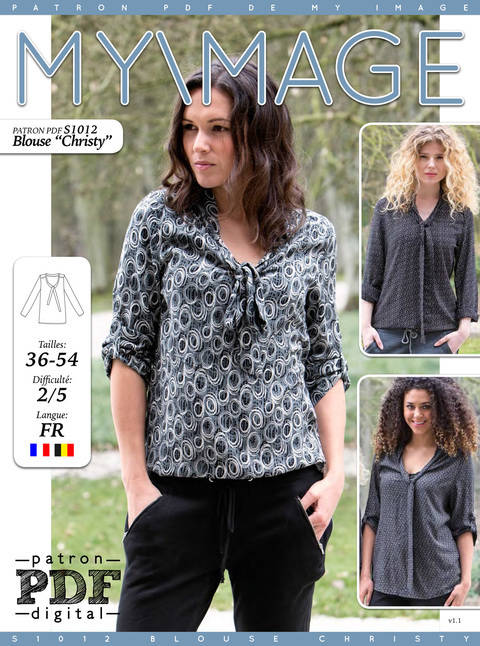 Blouse CHRISTY Patron de Couture + Tutoriel chez Makerist
