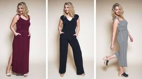 Télécharger Maxi robe ou combi Sallie - patron couture du 34 au 50 tout de suite sur Makerist