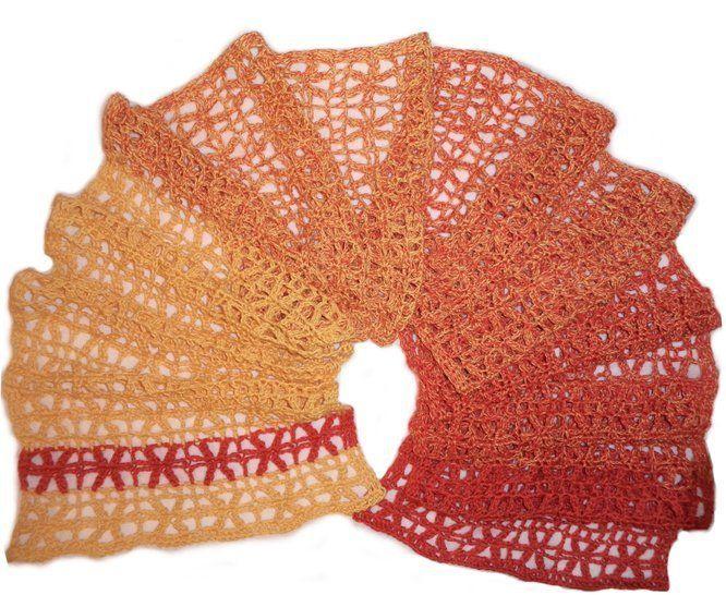 Häkelanleitung Floretta Scarf, luftiger Schal