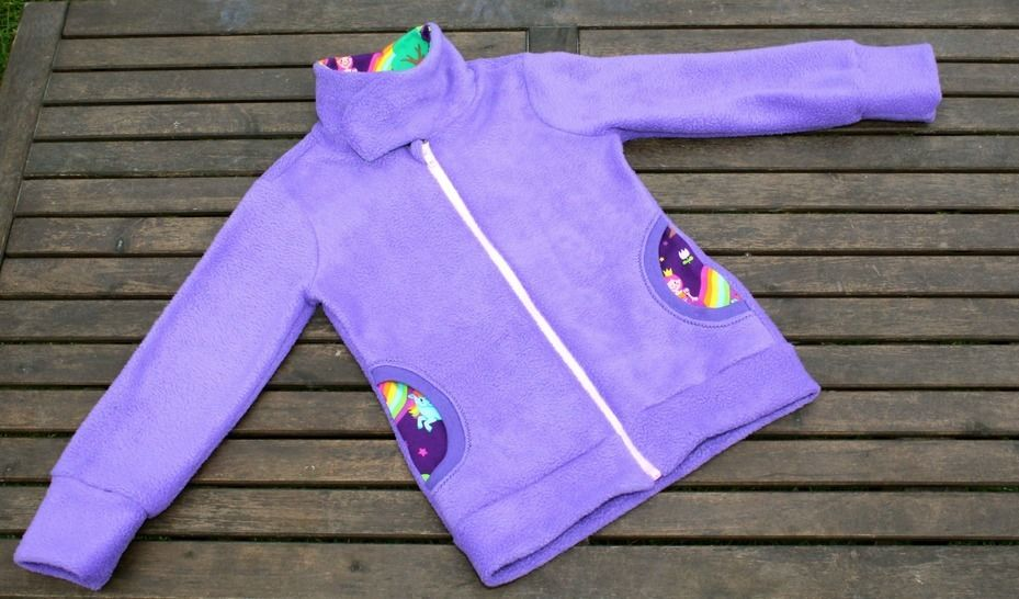 ✂Schnittmuster Vikky ✂ Fleecejacke für Mädchen - Nähanleitungen bei Makerist sofort runterladen