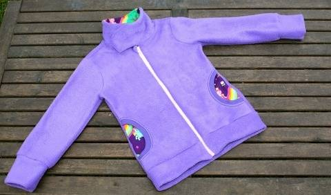 ✂Schnittmuster Vikky ✂ Fleecejacke für Mädchen bei Makerist sofort runterladen