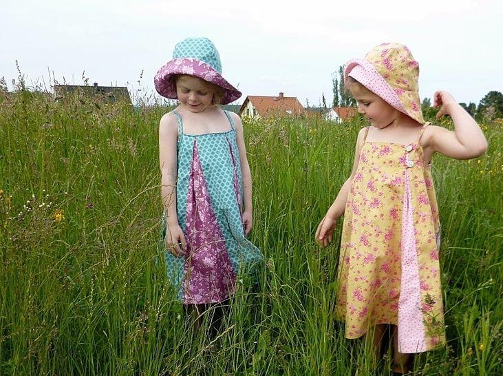 Nähanleitung Wende  Kleid TILDA Mädchen Gr.86-140 - Nähanleitungen bei Makerist sofort runterladen