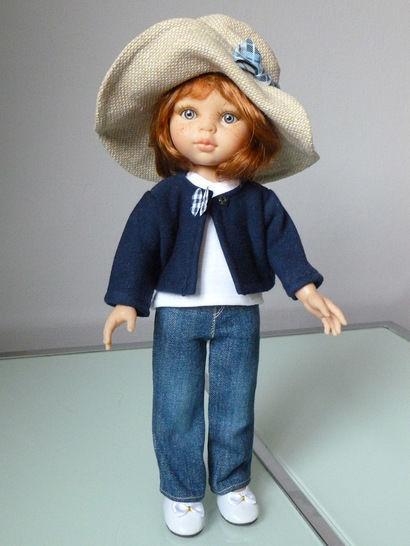 Télécharger Habits Poupée 32cm - Jean droit - 4 pièces - couture - Patrons de couture tout de suite sur Makerist