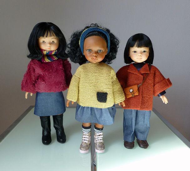 Télécharger Habits Poupée 32cm - Kit grand débutant hiver - 11 pièces - couture et tricot - Patrons de couture tout de suite sur Makerist
