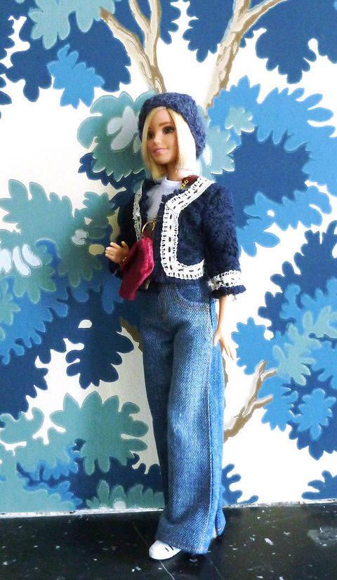 Télécharger Habits poupée mannequin de 29 cm- Basique Jeans - 5 pièces - couture tout de suite sur Makerist