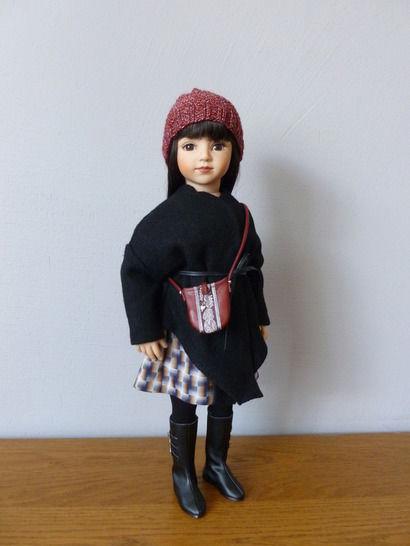 Télécharger Habits poupée 50cm - Noir et carreaux -  pièces - couture et tricot - Patrons de couture tout de suite sur Makerist