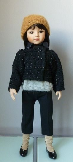 Télécharger Habits poupée 50cm - Rentrée chic - 4 pièces - couture et tricot - Patrons de couture tout de suite sur Makerist