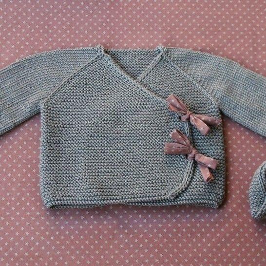 Télécharger Lil Kimonos - Gilet + chaussons bébé - Grand préma-24m - Tricot - Modèles de tricot tout de suite sur Makerist