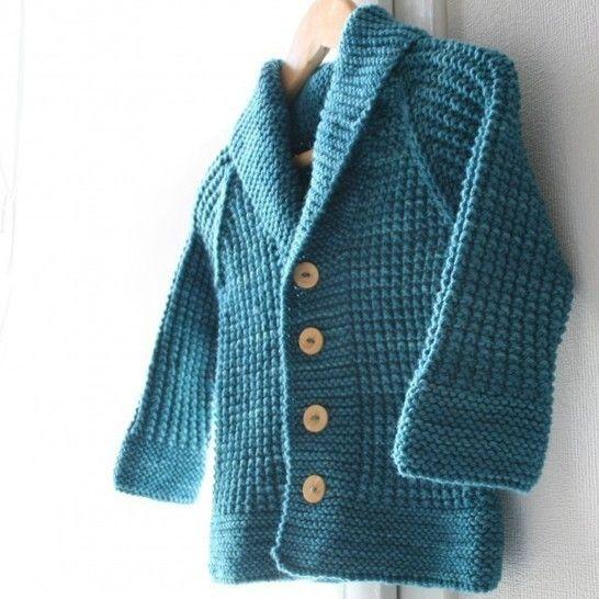 Télécharger Oscar - Gilet enfant 3m-8a - Tricot - Modèles de tricot tout de suite sur Makerist