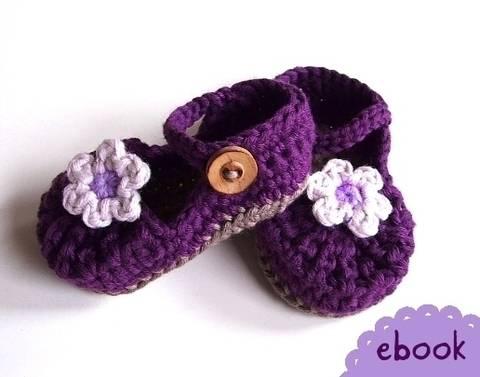 ❤ Häkelanleitung ❤ Baby Mary Janes Purple bei Makerist sofort runterladen