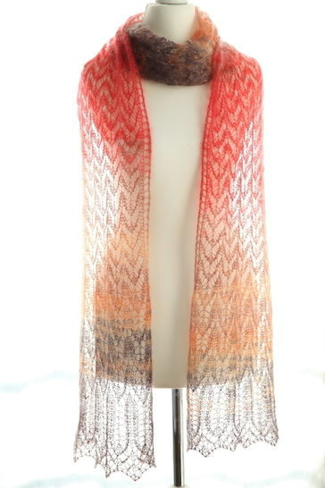 Download Arrow Shawl - Knitting - Knitting Patterns immediately at Makerist
