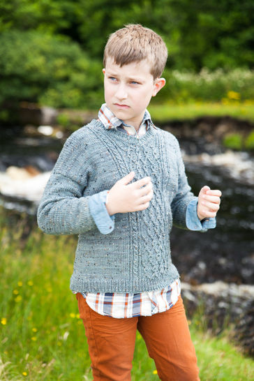 Download Broadford Children's Jumper - Knitting  - Knitting Patterns immediately at Makerist