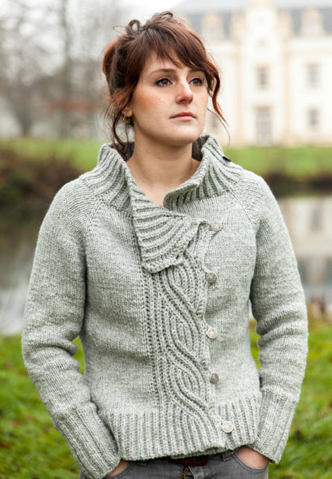 Download Lagertha Women's Cardigan - Knitting  immediately at Makerist
