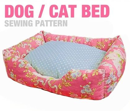 Download Dog / Cat Bed (3 Sizes) - Sewing Pattern - Sewing Patterns immediately at Makerist