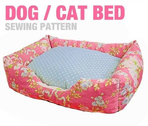 Download Dog / Cat Bed (3 Sizes) - Sewing Pattern immediately at Makerist