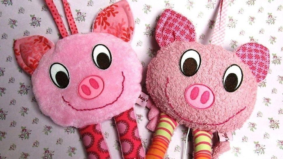 E-Book Spieluhr und Körnerkissen Schwein Privatnutzung - Nähanleitungen bei Makerist sofort runterladen