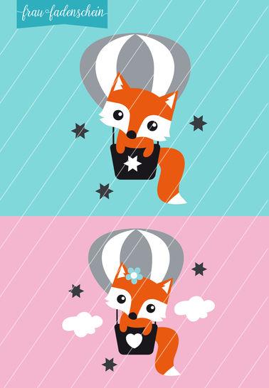 Applikation Foxy Fuchs – Fly Away: Vorlage & Anleitung - Nähanleitungen bei Makerist sofort runterladen