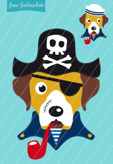 Applikation Hund Theo – auf hoher See: Vorlage & Anleitung - Nähanleitungen bei Makerist sofort runterladen