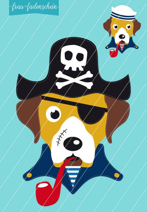Applikation Hund Theo – auf hoher See: Vorlage & Anleitung bei Makerist sofort runterladen