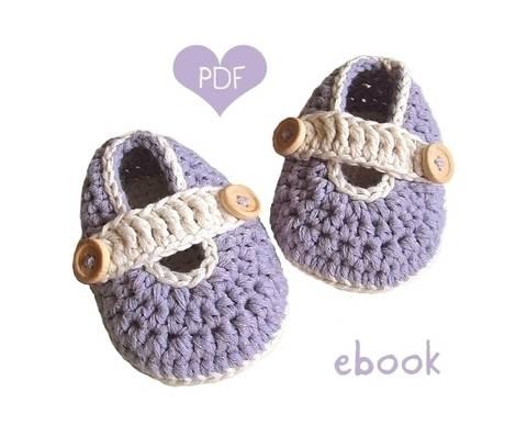 ❤ Häkelanleitung  ❤ Lavandula Baby Loafers bei Makerist sofort runterladen
