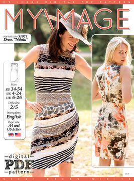 Download Dress NIKITA PDF Pattern + Tutorial - Sewing Patterns immediately at Makerist