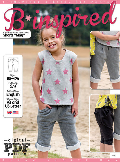 Download Shorts MAY PDF Pattern + Tutorial - Sewing Patterns immediately at Makerist