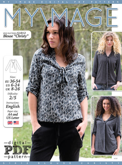 Download Blouse CHRISTY PDF Pattern + Tutorial - Sewing Patterns immediately at Makerist
