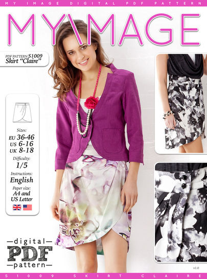 Download Skirt CLAIRE PDF Pattern + Tutorial - Sewing Patterns immediately at Makerist