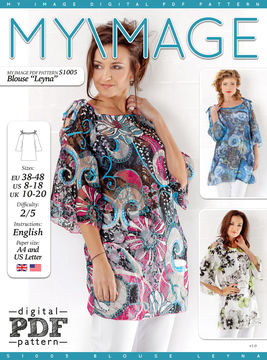 Download Blouse LEYNA PDF Pattern + Tutorial - Sewing Patterns immediately at Makerist