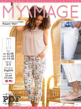 Download Trousers KIM PDF Pattern + Tutorial - Sewing Patterns immediately at Makerist