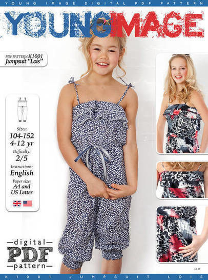 Download Jumpsuit LOIS PDF Pattern + Tutorial - Sewing Patterns immediately at Makerist