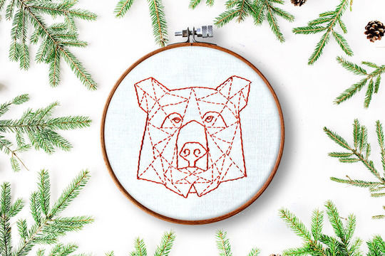 Download geometric bear - Embroidery Patterns immediately at Makerist