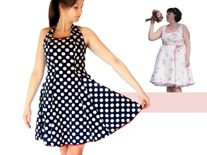 Download Women dress pdf sewing pattern - AnniNanni Dress - Sewing Patterns immediately at Makerist
