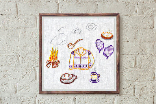 Download at the cabin - Embroidery Patterns immediately at Makerist