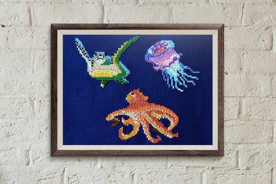 Download Fish 3 cross stitch pattern - Embroidery Patterns immediately at Makerist