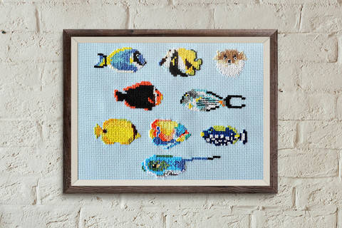 Download Fish 2 cross stitch pattern immediately at Makerist
