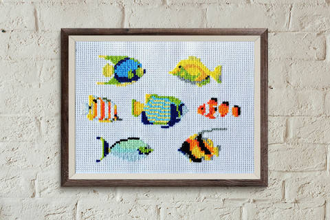 Download Fish 1 cross stitch pattern immediately at Makerist