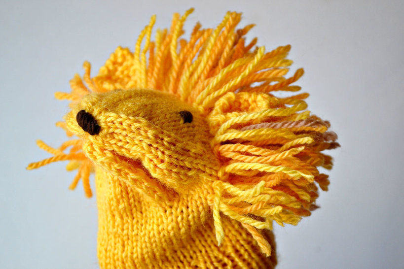 Download LION handpuppet - Knitting Patterns immediately at Makerist