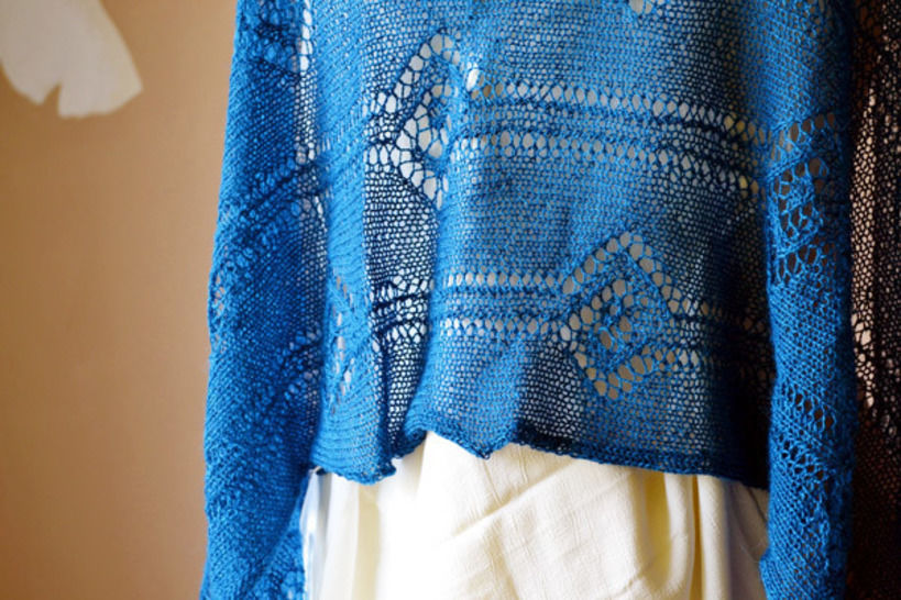 Download Linked summer lace stole - Knitting Patterns immediately at Makerist