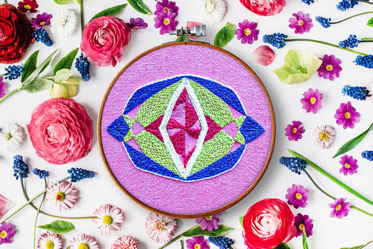 Download Kristall no. 1 - Embroidery Patterns immediately at Makerist