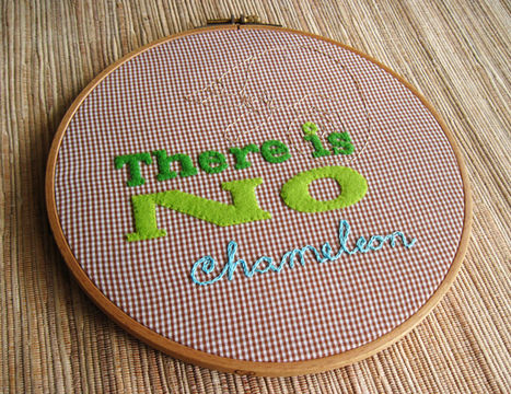 Download There is no chameleon - Embroidery Patterns immediately at Makerist
