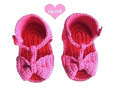 ❤ Häkelanleitung ❤ Little Heart Sandals bei Makerist