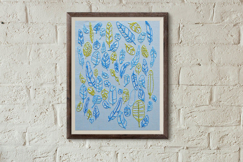 Download FEATHERS  - Embroidery Patterns immediately at Makerist