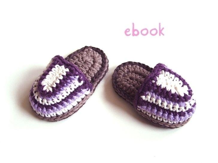 ❤ Häkelanleitung  ❤ Purple Baby Slippers - Häkelanleitungen bei Makerist sofort runterladen