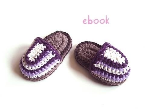 ❤ Häkelanleitung  ❤ Purple Baby Slippers bei Makerist sofort runterladen