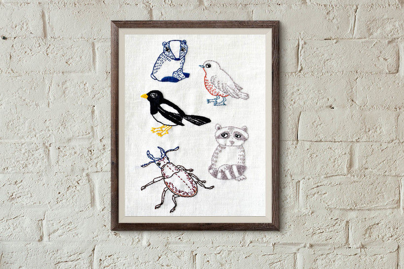 Download 5 woodland animals - Embroidery Patterns immediately at Makerist