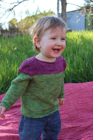 Download Baby Sweater (Mini) Bicolore - 3-3- months - Knitting - Knitting Patterns immediately at Makerist