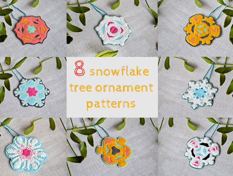 Download 8 felt tree ornaments - Embroidery Patterns immediately at Makerist