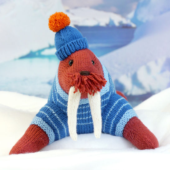 Download WALRUS AKIAK, soft toy knitting pattern - Knitting Patterns immediately at Makerist